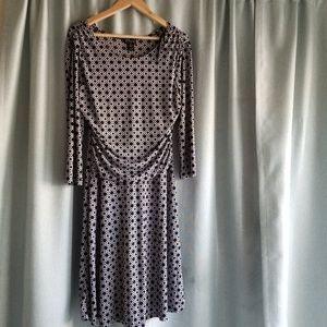 Black + White Patterned Dress